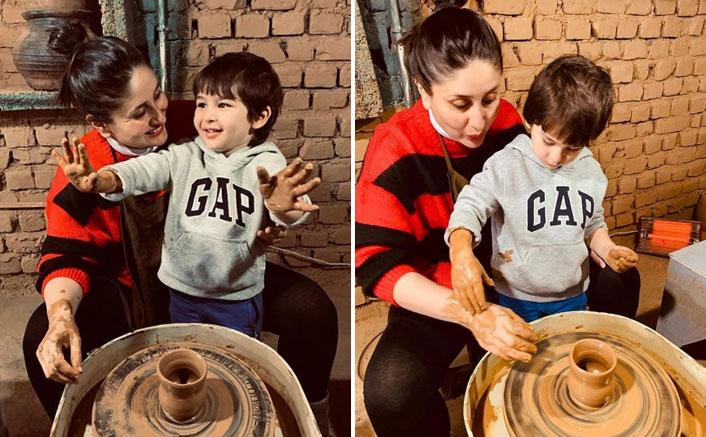 Kareena Kapoor Khan & Baby Taimur Ali Khan Try Pottery In Dharamkot