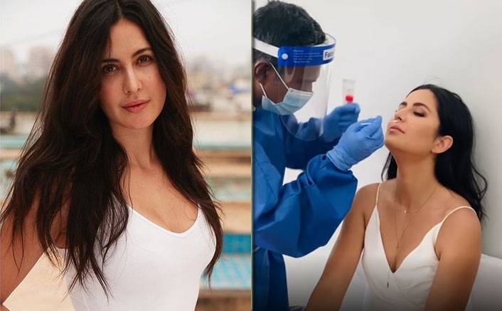 Katrina Undergoes Covid Test 'With A Smile'