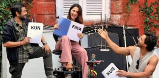 Kun Faya Kun: A Candid Moment from the set !