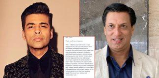 Madhur Bhandarkar Accepts Karan Johar's Apology