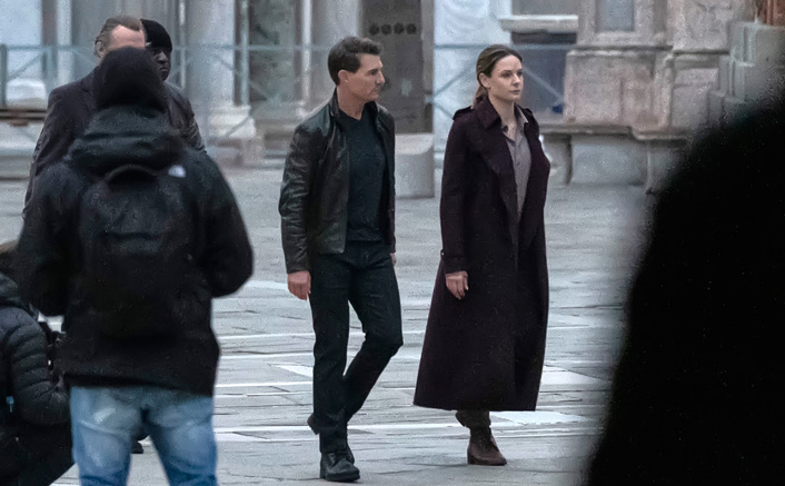 Tom Cruise & Rebecca Ferguson On The Sets Of Mission Impossible 7 In Venice(Pic credit: Getty Images)