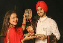 Neha Kakkar shares glimpses of first Karwa Chauth with husband Rohanpreet