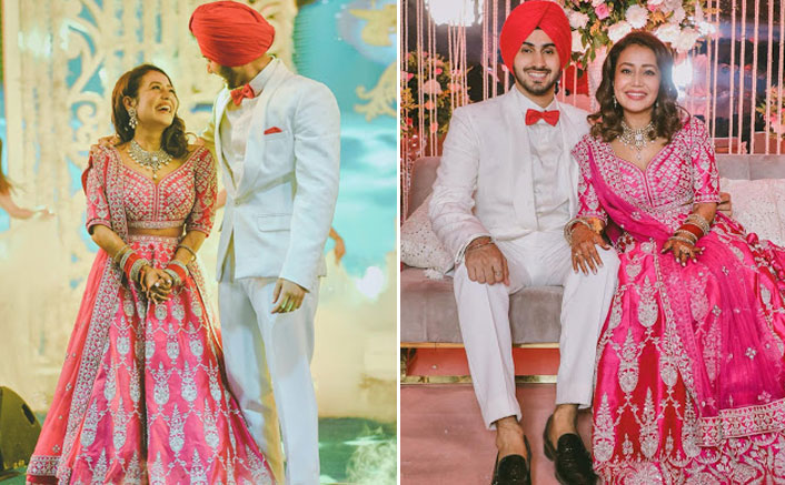Neha Kakkar's Pink Lehenga Is Worth THIS Whopping Amount; Maybe We Can Afford It Once In Our Lifetime!(Pic credit: Instagram/nehupreetforever)
