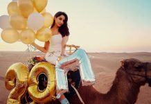 Nora Fatehi rides a camel to celebrate 20 Million Instagram followers