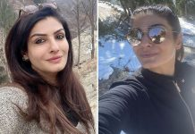 Raveena Tandon goes camping in the HImalayas