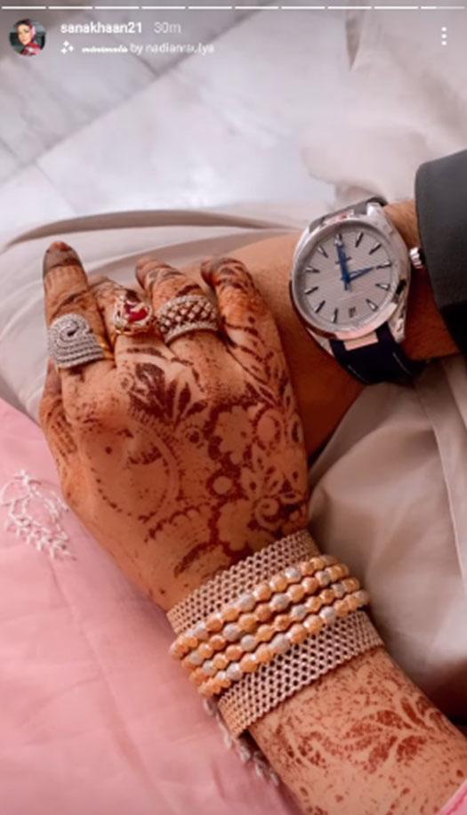 Sana Khan Shares A Loving Picture With Husband Anas Sayied