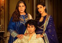 Sara Ali Khan's royal pose with brother Ibrahim, mom Amrita in festive photo-op