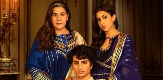 Sara Ali Khan's royal pose with brother Ibrahim, mom Amrita in festive photo-op