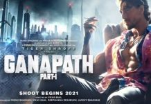 The poster of Tiger Shroff's action thriller Ganapath shows him in an uber cool, grungy avatar