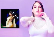 You Can't Take Your Eyes Off Nora Fatehi Dancing On Saki Saki In A Sabyasachi Saree; Watch