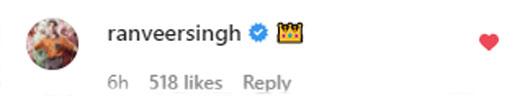 Ranveer Singh Comments A Crown Emoji On Amitabh Bachchan's Michael Jackson PostRanveer Singh Comments A Crown Emoji On Amitabh Bachchan's Michael Jackson Post
