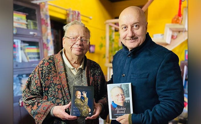 Anupam Kher Visits Ruskin Bond In Mussoorie, Presents Him Latest Book
