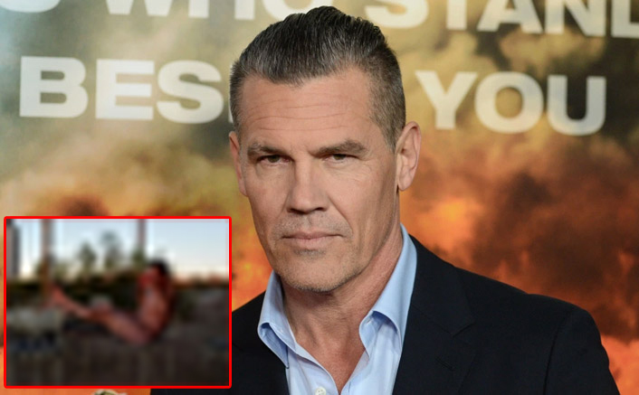 Josh Brolin AKA Thanos Poses For A N*de Picture Sipping Coffee