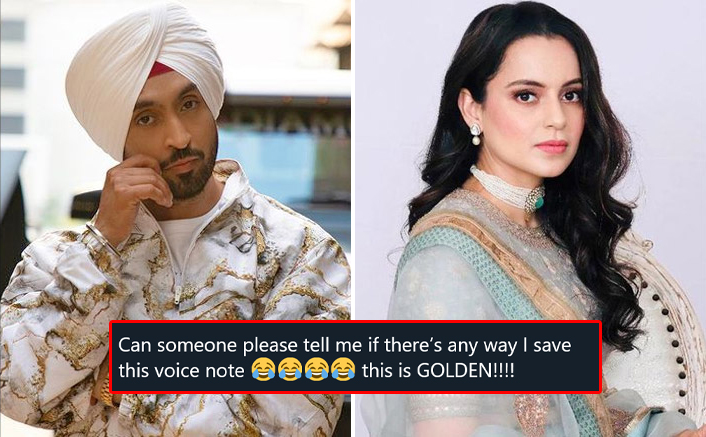 Diljit Dosanjh Makes Fun Of Kangana Ranaut's Voice?