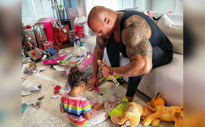 Dwayne Johnson shares experience of playing with daughter's Barbie (Ld)