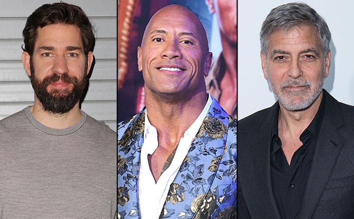 Dwayne Johnson Turns Santa Claus & George Clooney Turns Weatherman For John Krasinski's 'Some Good News'