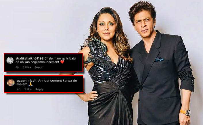 Gauri Khan Shares A Throwback Pic With Shah Rukh Khan