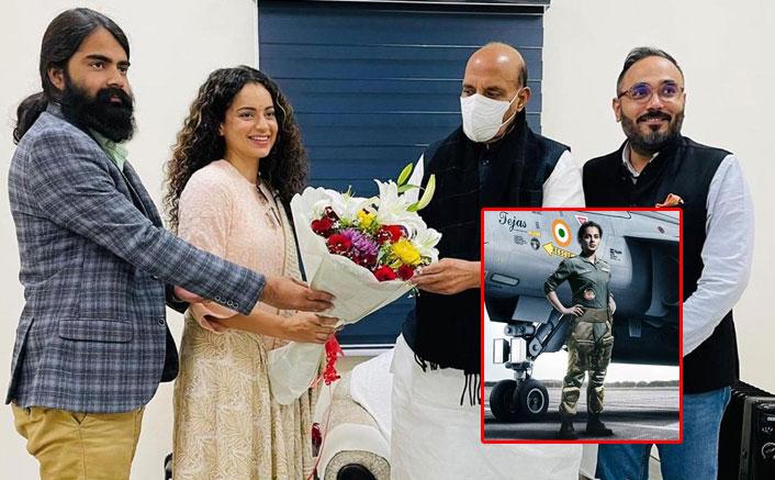 Kangana meets Rajnath Singh ahead of 'Tejas'