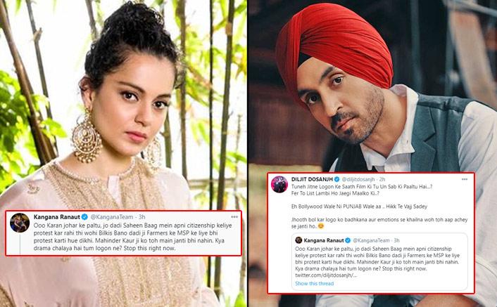 Kangana Ranaut & Diljit Dosanjh Are At Twitter War Now