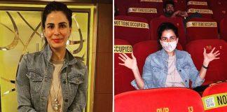 Kirti Kulhari watches film on big screen as mark of support to cinema halls