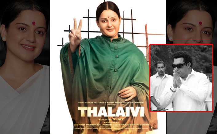 On the death anniversary of MGR, team Thalaivi pay their tribute by sharing new look of Arvind Swami