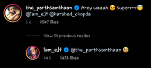 Parth Samthaan's Beautiful Comment On Erica Fernandes' Latest Song Will Make Your Day