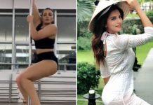 Shama Sikander learns pole dance in Dubai