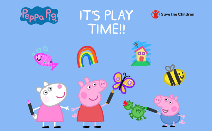 To counter Pandemic's impact, Save the Children promotes Right to Play; Names Peppa Pig as Child Ambassador