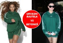 Urvashi Rautela and Beyoncé in the same Athleisure! What a sporty co-incidence!