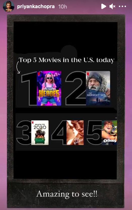 We Can Be Heroes Reaches Top Spot On Netflix US, Priyanka Chopra Jonas Thank Fans