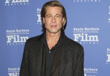 Brad Pitt Goes Shirtless, Treats Fans With A Glimpse Of His Tattoos On The Back!