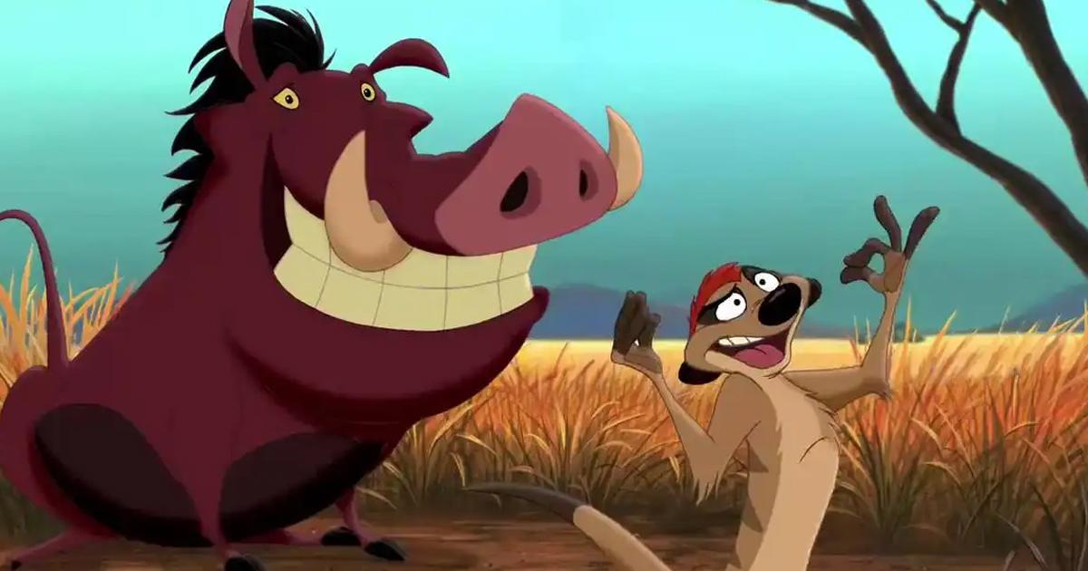 Timon & Pumbaa Accompanied Simba On His Journey In The Lion King