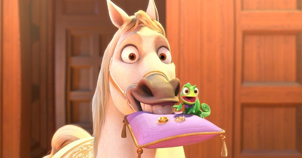 Pascal & Maximus Were The Disney Sidekicks Of Rapunzel & Flynn Ride In Tangled