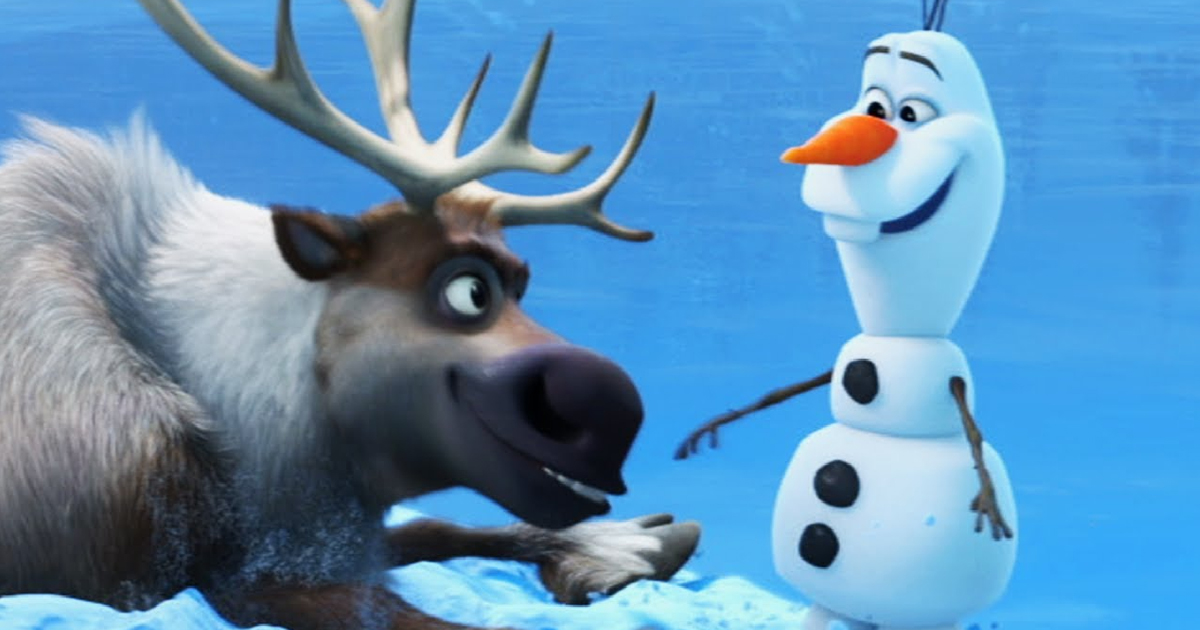 Olaf & Sven Played Anna & Kristoff's Sidekick In Frozen