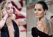 Hollywood Actresses From Angelina Jolie To Miley Cyrus Who Got Devnagri Tattoos Done