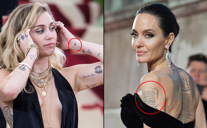 Hollywood Actresses From Angelina Jolie To Miley Cyrus Who Got Devanagari Tattoos Done