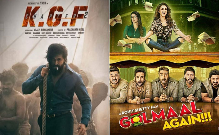 KGF Chapter 2 At The Top Is The Much Awaited Hindi Films' List