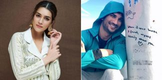 Kriti Sanon recalls SSR: This is how I'll remember you, smiling like a child