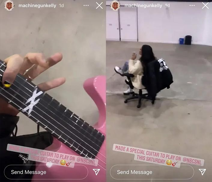 Machine Gun Kelly Shared A Video From The Rehearsals Of His Saturday Night Live Gig