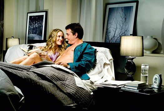 Mr Big & Carrie Bradshaw In A Still From S*x And The City