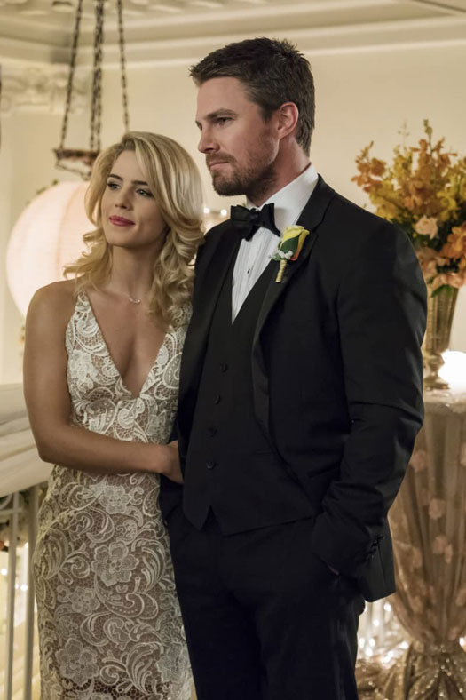 Oliver Queen & Felicity Smoak In A Still From Arrow