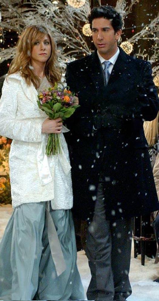 Ross Geller & Rachel Green In A Still From FRIENDS