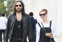 Russell Brand's wife finds his energy levels exhausting