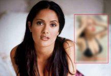 Salma Hayek slays it in black bikini