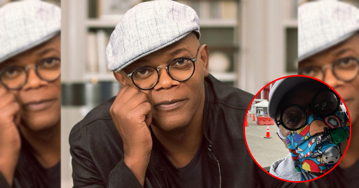 Samuel L Jackson AKA Nick Fury Receives His First Shot Of The COVID-19 Vaccination; Wears An Avengers Print Mask While Taking The Jab