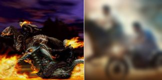 SS Rajamouli's RRR Poster Inspired From Nicolas Cage's Ghost Rider?