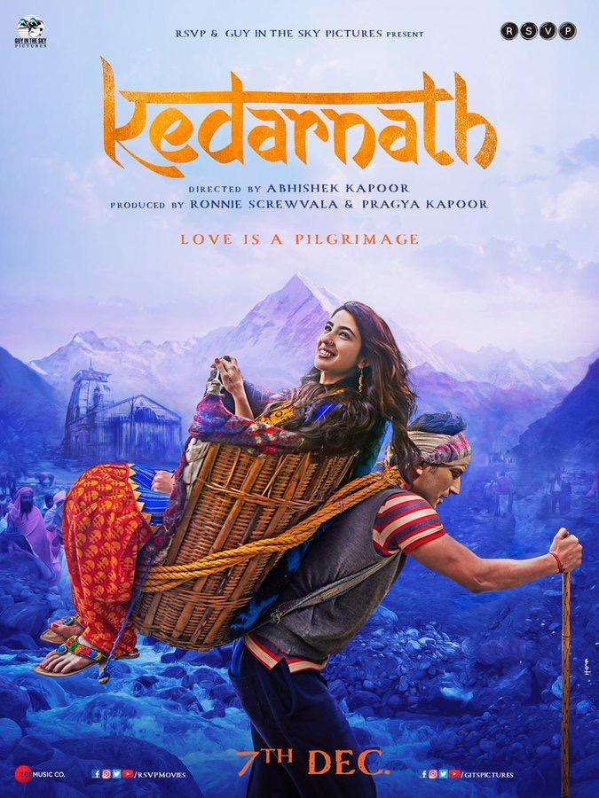 Kedarnath Poster Featuring Sushant & Sara Ali Khan