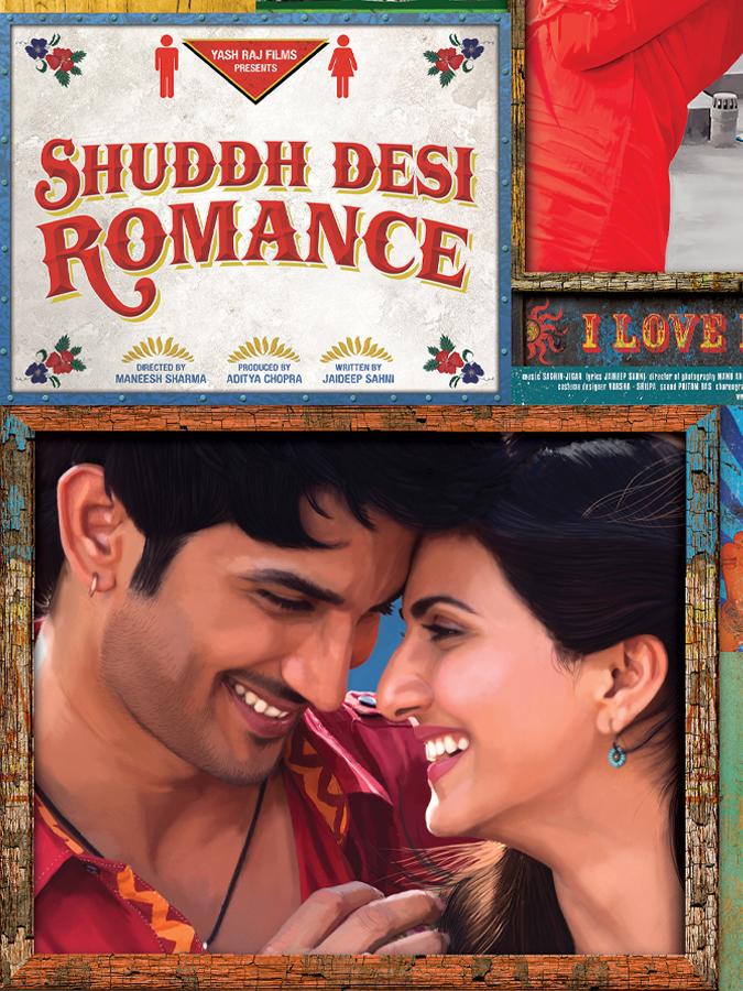 Shuddh Desi Romance Poster Featuring SSR & Vaani Kapoor