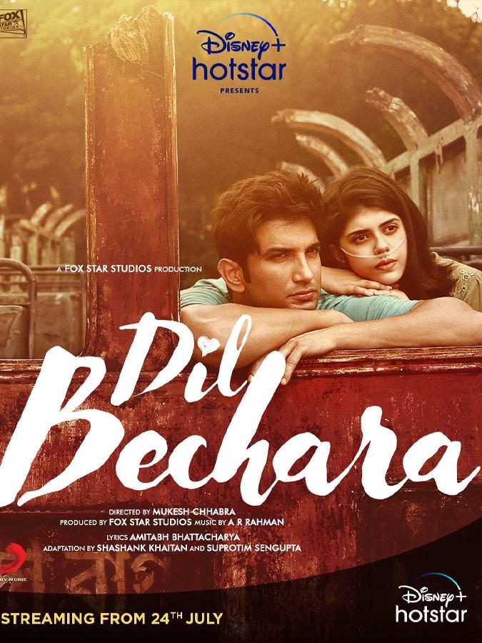 Dil Bechara Poster Featuring SSR & Sanjana Sanghi