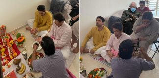 When #BernieSanders joined Adhyayan Suman's housewarming puja